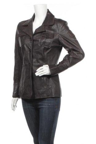 Дамско кожено яке Gipsy, Размер M, Цвят Кафяв, Естествена кожа, Цена 41,16лв.