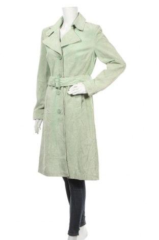 Γυναικείο δερμάτινο μπουφάν Hallhuber, Μέγεθος M, Χρώμα Πράσινο, Φυσικό σουέτ, Τιμή 36,89€