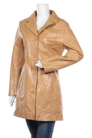 Дамско кожено яке Jp Collection, Размер L, Цвят Кафяв, Естествена кожа, Цена 32,03лв.