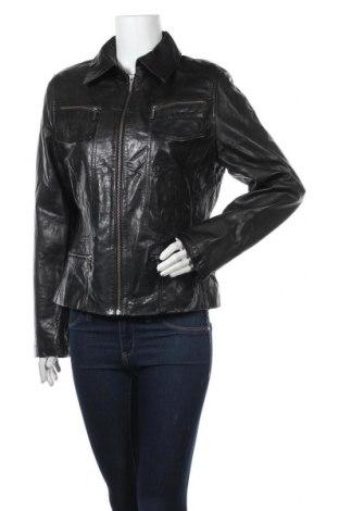 Дамско кожено яке Kara, Размер M, Цвят Черен, Естествена кожа, Цена 22,05лв.