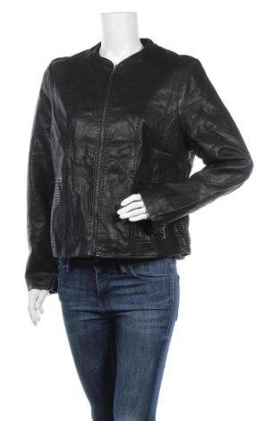Дамско кожено яке Katies, Размер XL, Цвят Черен, Еко кожа, Цена 34,44лв.