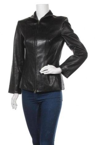 Дамско кожено яке Kenneth Cole, Размер XS, Цвят Черен, Естествена кожа, Цена 49,98лв.