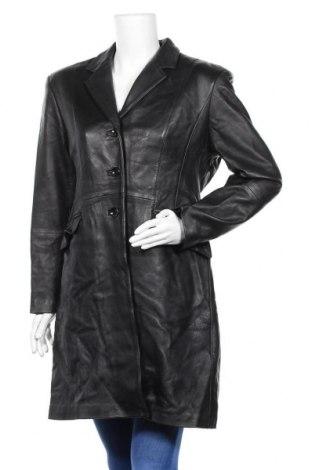 Дамско кожено яке Leder, Размер L, Цвят Черен, Естествена кожа, Цена 19,69лв.