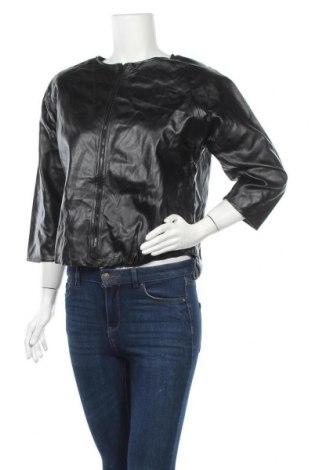 Дамско кожено яке Leonard St., Размер M, Цвят Черен, Еко кожа, Цена 51,03лв.