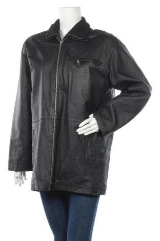 Дамско кожено яке Lisa Tossa, Размер L, Цвят Черен, Естествена кожа, Цена 22,42лв.