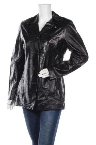 Дамско кожено яке Mauritius, Размер L, Цвят Черен, Естествена кожа, Цена 36,38лв.