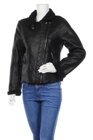 Дамско кожено яке Miralba, Размер L, Цвят Черен, Еко кожа, Цена 35,44лв.