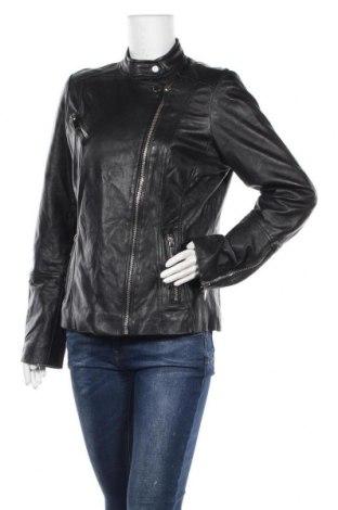 Γυναικείο δερμάτινο μπουφάν Mohito, Μέγεθος L, Χρώμα Μαύρο, Γνήσιο δέρμα, Τιμή 37,15€