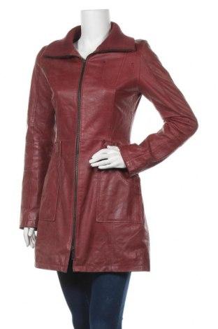 Γυναικείο δερμάτινο μπουφάν Montgomery, Μέγεθος M, Χρώμα Κόκκινο, Γνήσιο δέρμα, Τιμή 73,39€