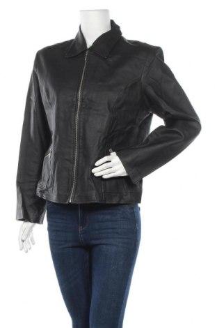 Дамско кожено яке Morena, Размер XL, Цвят Черен, Естествена кожа, Цена 36,86лв.