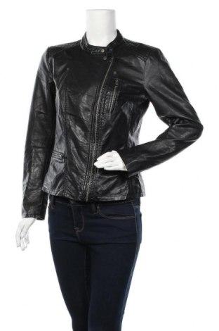 Дамско кожено яке ONLY, Размер M, Цвят Черен, Еко кожа, Цена 53,55лв.