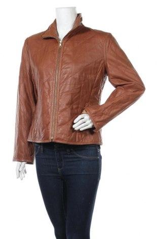 Дамско кожено яке Offset, Размер L, Цвят Кафяв, Естествена кожа, Цена 35,28лв.
