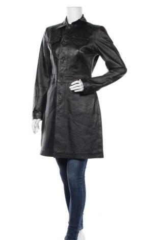 Δερμάτινο γυναικείο παλτό Phard, Μέγεθος M, Χρώμα Μαύρο, Γνήσιο δέρμα, Τιμή 45,72€