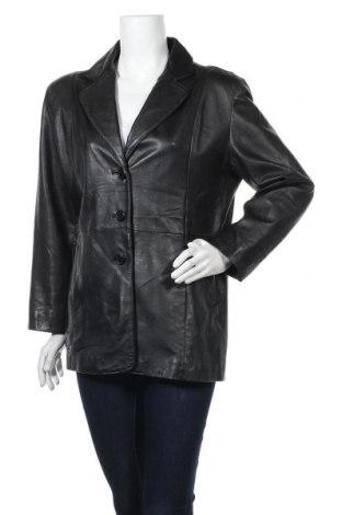 Дамско кожено яке Prince, Размер XL, Цвят Черен, Естествена кожа, Цена 20,48лв.