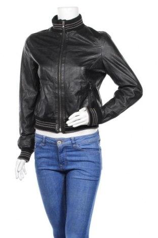 Дамско кожено яке Rino & Pelle, Размер M, Цвят Черен, Естествена кожа, Цена 124,69лв.