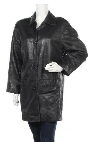 Дамско кожено яке St. Michael Marks & Spencer, Размер M, Цвят Черен, Естествена кожа, Цена 20,28лв.