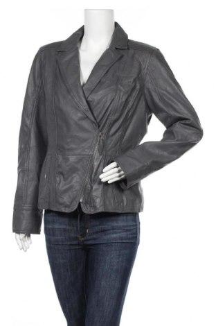 Дамско кожено яке Street One, Размер L, Цвят Сив, Естествена кожа, Цена 83,48лв.