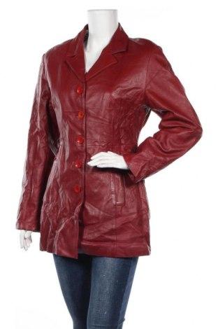 Дамско кожено яке Tesatti, Размер L, Цвят Червен, Естествена кожа, Цена 60,74лв.