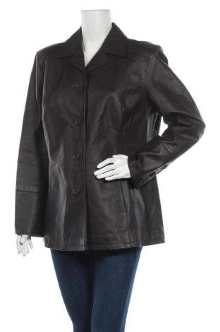 Дамско кожено яке Together, Размер XL, Цвят Кафяв, Естествена кожа, Цена 130,20лв.
