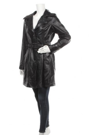 Дамско кожено яке, Размер L, Цвят Черен, Естествена кожа, Цена 73,92лв.