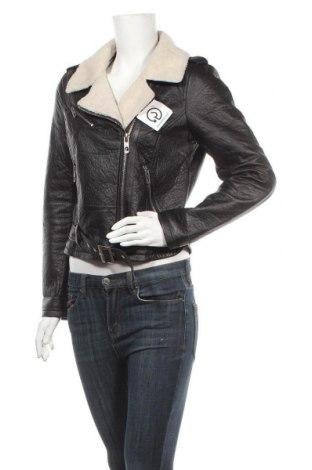 Дамско кожено яке Vero Moda, Размер M, Цвят Черен, Еко кожа, Цена 42,89лв.