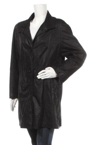 Γυναικείο δερμάτινο μπουφάν Vittoria Verani, Μέγεθος M, Χρώμα Μαύρο, Γνήσιο δέρμα, Τιμή 7,68€