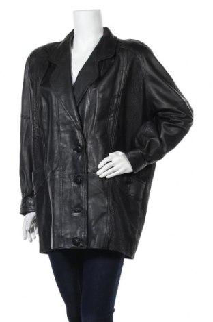 Дамско кожено яке Yessica, Размер L, Цвят Черен, Естествена кожа, Цена 20,74лв.