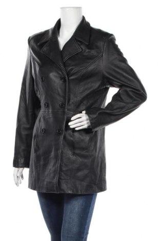Дамско кожено яке Yessica, Размер L, Цвят Черен, Естествена кожа, Цена 66,83лв.