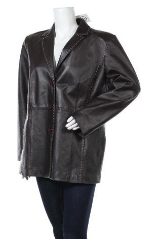 Дамско кожено яке Yippie, Размер XXL, Цвят Кафяв, Естествена кожа, Цена 26,78лв.