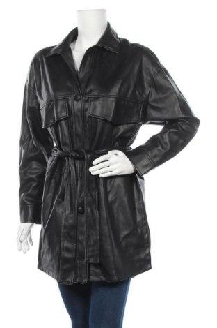 Γυναικείο δερμάτινο μπουφάν Zara, Μέγεθος XS, Χρώμα Μαύρο, Δερματίνη, Τιμή 23,12€
