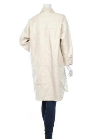 Дамско кожено яке Zara, Размер S, Цвят Бял, Еко кожа, Цена 34,75лв.
