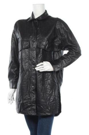 Дамско кожено яке Zara, Размер S, Цвят Черен, Еко кожа, Цена 35,96лв.