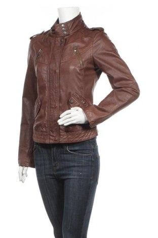 Дамско кожено яке Zero, Размер S, Цвят Кафяв, Естествена кожа, Цена 67,73лв.