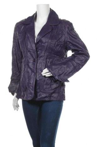 Дамско кожено яке Marciano, Размер XL, Цвят Лилав, Естествена кожа, Цена 66,89лв.