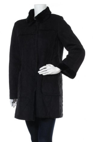 Дамско палто, Размер L, Цвят Черен, Цена 13,23лв.