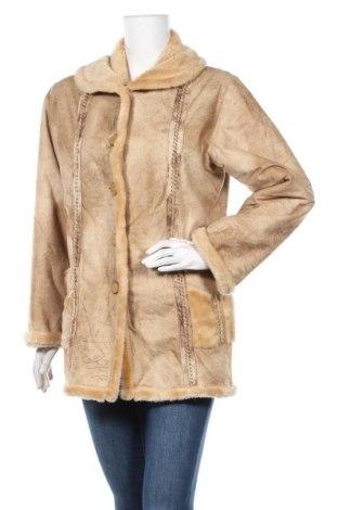 Дамско палто, Размер L, Цвят Бежов, Цена 14,18лв.
