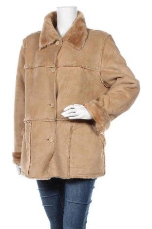 Дамско палто, Размер L, Цвят Бежов, Полиестер, Цена 13,39лв.