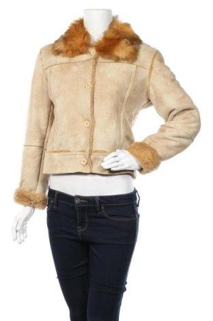 Дамско палто, Размер M, Цвят Бежов, 60% акрил, 40% полиестер, Цена 15,23лв.