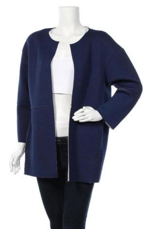 Дамско палто, Размер M, Цвят Син, 50% полиестер, 50% вискоза, Цена 11,55лв.