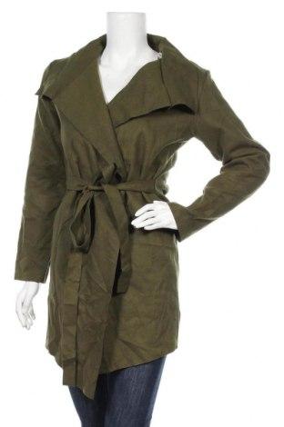 Дамско палто, Размер XL, Цвят Зелен, 65% памук, 35% полиестер, Цена 38,90лв.