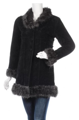 Дамско палто, Размер L, Цвят Черен, Цена 30,24лв.