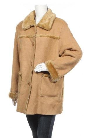 Дамско палто, Размер L, Цвят Бежов, 75% акрил, 25% полиестер, Цена 34,97лв.