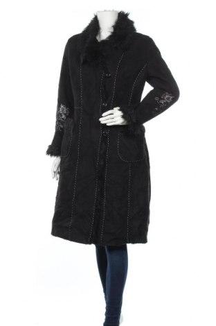 Дамско палто, Размер S, Цвят Черен, Полиестер, акрил, Цена 53,55лв.