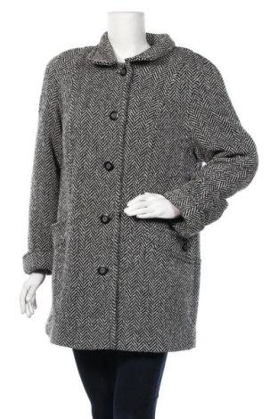 Дамско палто, Размер L, Цвят Черен, 66% вълна, 13% полиамид, 13% полиестер, 8% акрил, Цена 24,57лв.