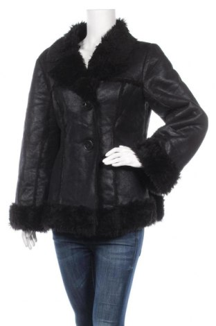 Дамско палто, Размер M, Цвят Черен, Полиестер, Цена 42,32лв.