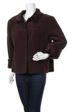 Дамско палто, Размер XL, Цвят Кафяв, 75% полиестер, 25% вискоза, Цена 21,42лв.