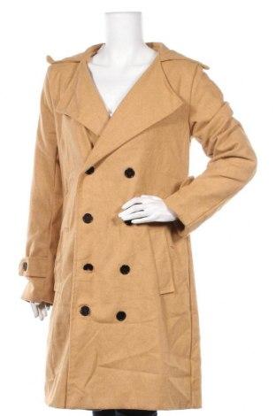 Дамско палто, Размер XL, Цвят Бежов, Цена 13,52лв.