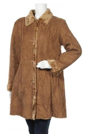 Дамско палто, Размер L, Цвят Кафяв, Полиестер, Цена 13,39лв.