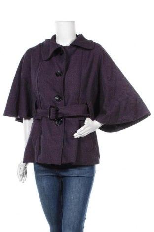 Дамско палто, Размер L, Цвят Лилав, 50% памук, 50% вискоза, Цена 16,80лв.