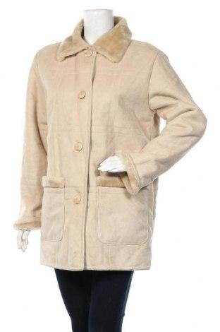 Дамско палто, Размер M, Цвят Бежов, 63% акрил, 37% полиестер, Цена 21,42лв.